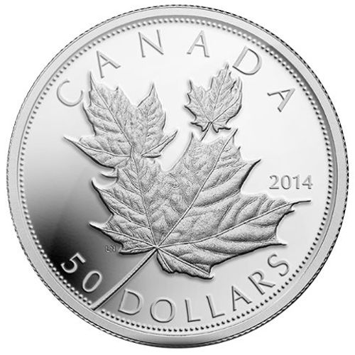 Buy 2014 5 Oz Silver Canadian Maple Leafs Silver Com