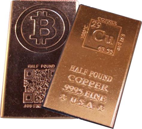 Buy 1 2 Pound Copper Bullion Bars New 999 Pure