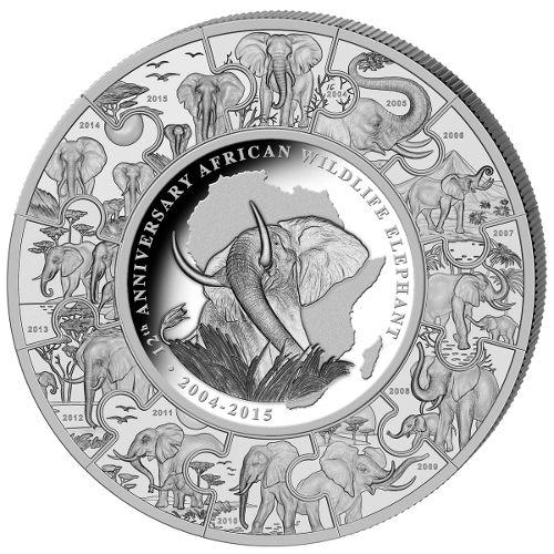 Buy 2015 1 Kilo Somalian Silver Elephant Puzzle Coins